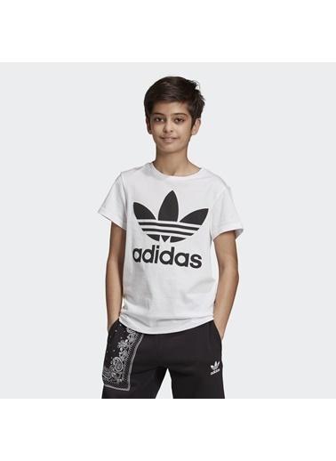 adidas Unisex Çocuk Trefoil Tişört DV2904 Beyaz